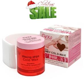 Холодный воск для депиляции Wokali Depilatory Honey Cold Wax Rose / Роза 380 г