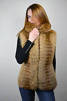 Жилетка женская меховая из лисы