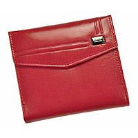 Гаманець жіночий шкіряний червоний на кнопці Rovicky CPR-006-BAR Red
