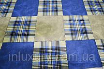 Простынь на резинке Шотландка 140х190х20, фото 2