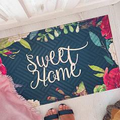 Коврик придверный на резиновой основе с принтом Sweet home