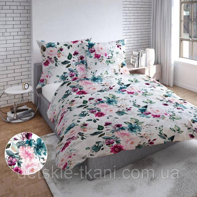 Польская бязь с цветами для постельного белья
