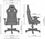 Кресло геймерское Hexter (Хекстер) PRO R4D TILT MB70 02 BLACK/GREEN черный/зеленый, фото 5