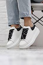 Женские кроссовки Alexander McQueen White Black (копия)