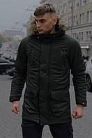 Мужская зимняя парка хаки HotWint Intruder с мехом