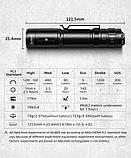 Светодиодный яркий фонарь Wuben C3 (1200LM, USB Type-C, Osram P9 LED, IP68, Аккумулятор 186500*2600mAh), фото 9