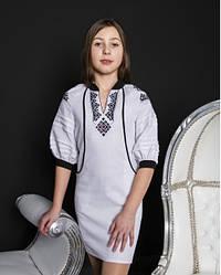 Вишите плаття для дівчинки Гражда, 100% льон, р 134,140,146 біле