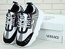 Женские кроссовки Versace Chain White Black Grey, фото 5