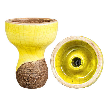 Чаша для кальяна Karma Фанел Желтая, фото 2