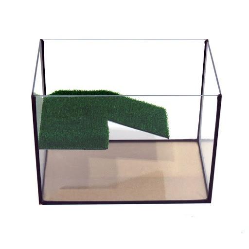 Аквариум для черепахи, черепашатник 50*30*35 см (52 л) с мостиком ГАРАНТИЯ