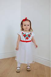 Вишите плаття для дівчинки, Малятко, 100% бавовна і сітка, р 80,86,92 біле