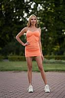 Женское мини-платье Lameia Кораловое