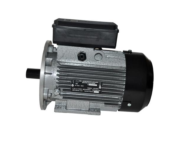 Электродвигатель  АИ1Е80А2 (1,1 кВт, 2840 об/мин, однофазный,  лапы/фланец)