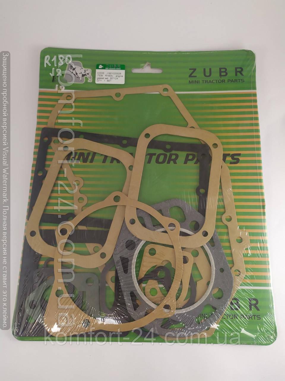 Прокладки двигуна до мотоблоку R180(Zubr)