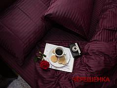 Полуторный набор постельного белья 150*220 из Страйп Сатина №50355 Черешенка™