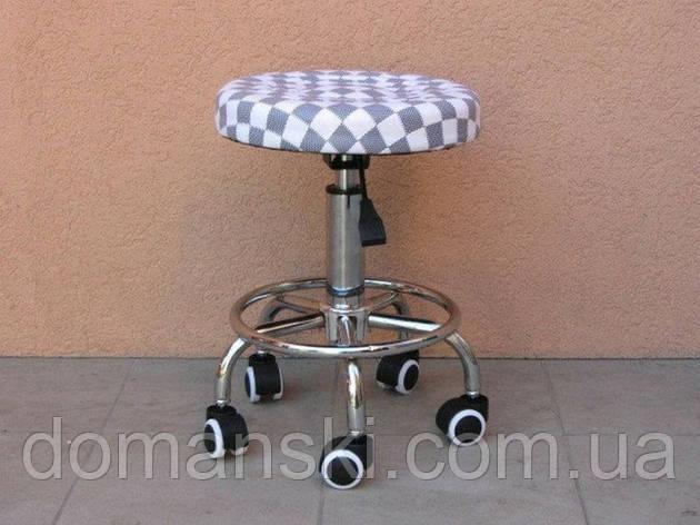 Стульчик мастера, стул на колёсиках с регулировкой по высоте. от Domanski мебель., фото 2