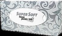 Серветки в пачках одноразові Doily 30см х 30см (100 шт\пач) з спанлейса 40г\м2 Гладкі Білі