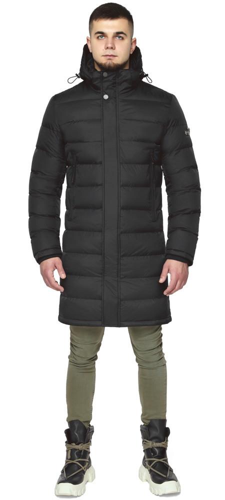 Braggart / Длинная черная мужская куртка на зиму модель 35680