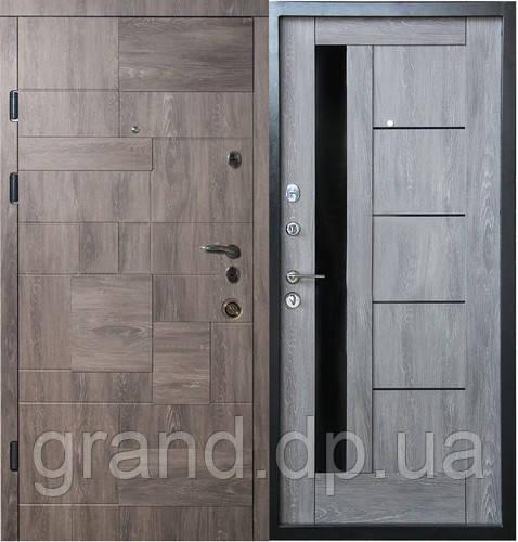 Двери металлические входные квартирные Магда 601/3 дуб шато эко/605 дуб шато эко