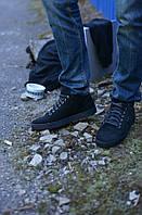 Ботинки черные укороченные натуральная замша