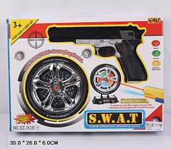 Пистолет, мишень в виде колеса, инфракрасный луч, музыка, свет, на батарейках, XZ-H18, 2148
