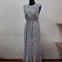 Женское шифоновое платье миди.