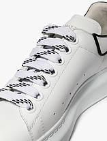 "Кросівки Alexander McQueen Velcro White Black ""Білі"", фото 3"