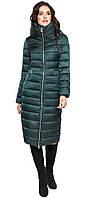 Зимняя изумрудная куртка длинная женская модель 31074