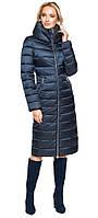 Сапфировая куртка с карманами женская на зиму модель 31074