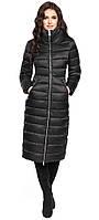 Черная качественная куртка женская зимняя модель 31074