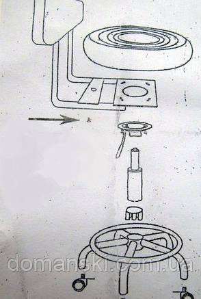 Стульчик мастера со спинкой, стул на колёсиках с регулировкой по высоте. от Domanski мебель., фото 2