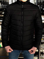 Мужская Весенняя чёрная куртка пуховик (Осень)