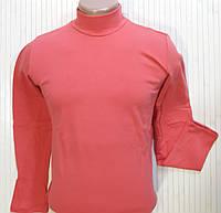 Гольф (водолазка) мужской, теплый, на флисе, розовый размер 52-54