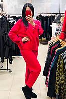 Женский теплый розовый костюм Serriano 20-6924
