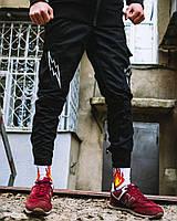 Брюки карго мужские Пушка Огонь Angry Flash черные
