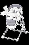 Крісло-гойдалка для годування 2 в 1 Lionelo NILES GREY, фото 2
