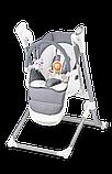 Кресло-качелька для кормления 2 в 1 Lionelo NILES GREY, фото 3