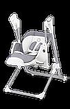 Крісло-гойдалка для годування 2 в 1 Lionelo NILES GREY, фото 5