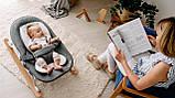 Дитяче крісло-гойдалка Lionelo ROSA GREY/WHITE, фото 7