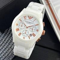 Часы наручные Emporio Armani AR-1400 White-Gold (подарочная коробка бесплатно)