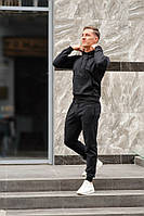Черный мужской спортивный костюм весна-осень