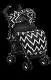 Прогулянкова коляска Lionelo ELIA OSLO BLACK/WHITE, фото 2