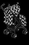 Прогулянкова коляска Lionelo ELIA OSLO BLACK/WHITE, фото 8