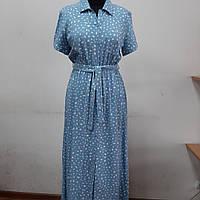 Женское платье рубашка миди.