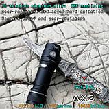 EDC Ручной фонарик Amutorch AX2 (1100LM, 5000k NW, SST20 led, IPX8, 5 режимов, аккумулятор 16340 в комплекте), фото 3