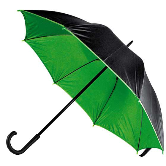Парасоля-тростина Bergamo BLOOM, напівавтоматичний (зелений)