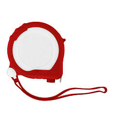 Рулетка Bergamo TAPE 200, 3 метра, 2 стопери, пластикова, прорезинений корпус (червоний)