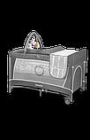 Ліжечко-манеж Lionelo FLOWER GREY SCANDI, фото 5