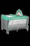 Ліжечко-манеж Lionelo FLOWER TURQUOISE, фото 3