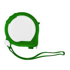 Рулетка Bergamo TAPE 200, 3 метра, 2 стопери, пластикова, прорезинений корпус (зелений)